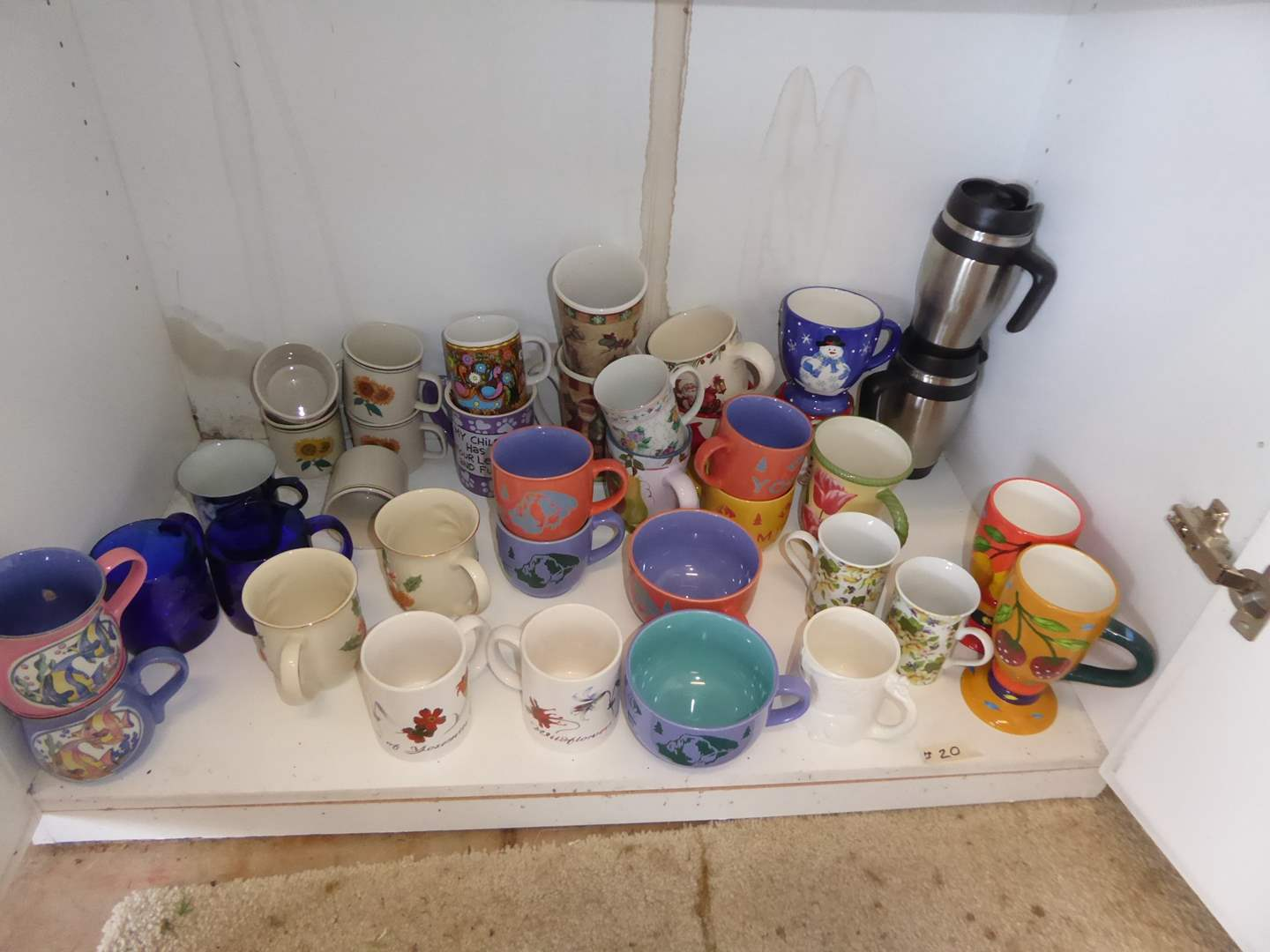 Lot # 20 - Lot Of Mugs & Two Insulated Tumblers  (main image)