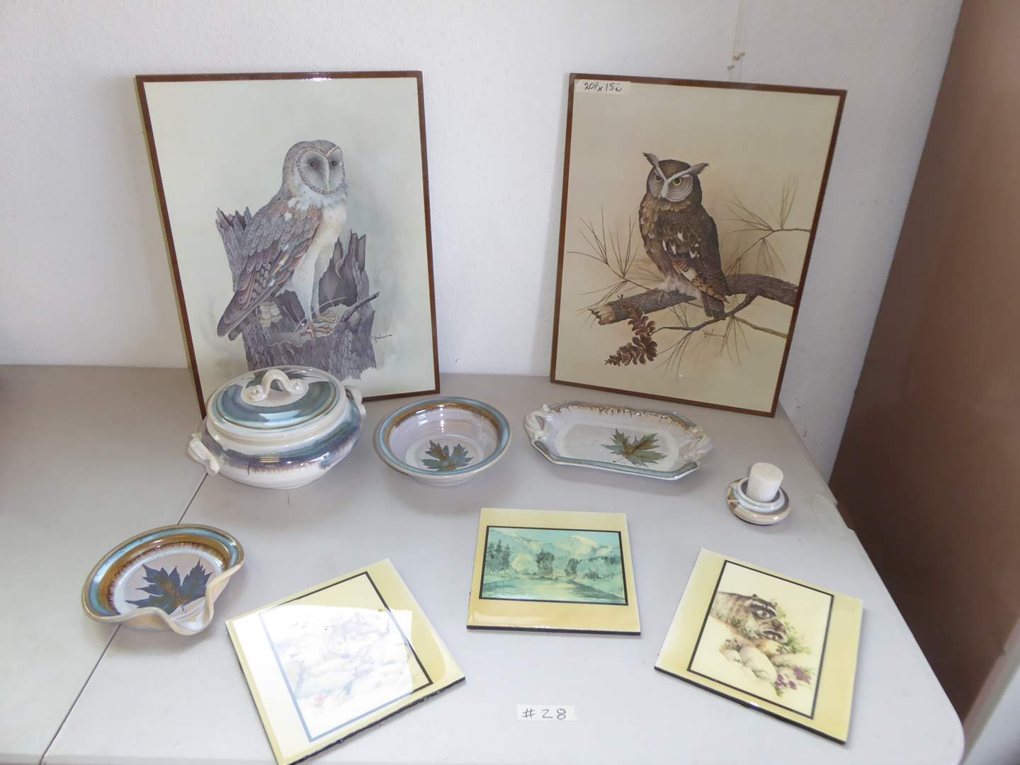 Lot # 28 - Signed Pottery, Prints & Glossy Tiles  (main image)