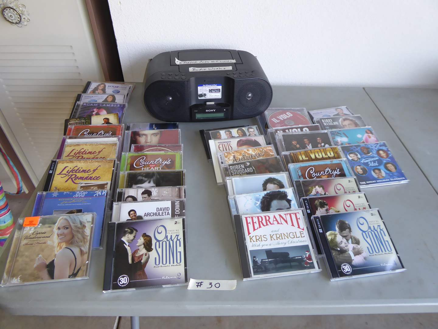 Lot # 30 - Sony Audio Docking System & CD Collection  (main image)