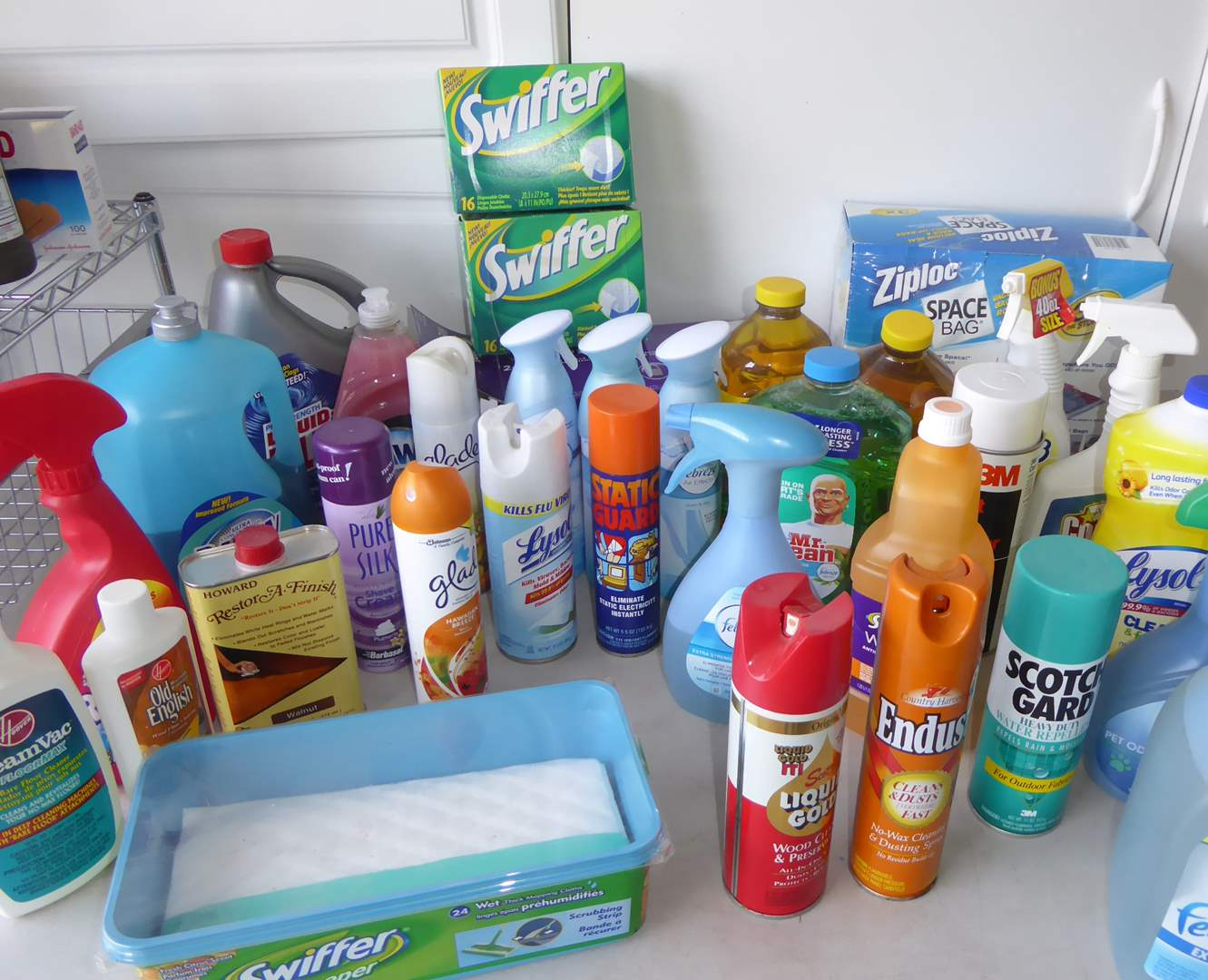 Lot # 43 - Cleaning Supplies & Air Freshener Sprays  (main image)