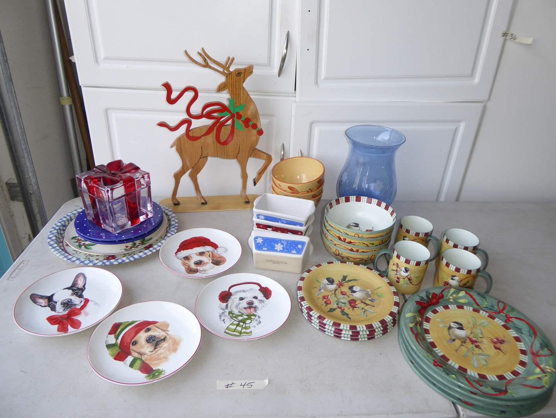 Lot # 45 - Lenox Christmas Dishes & Other Christmas Decor  (main image)