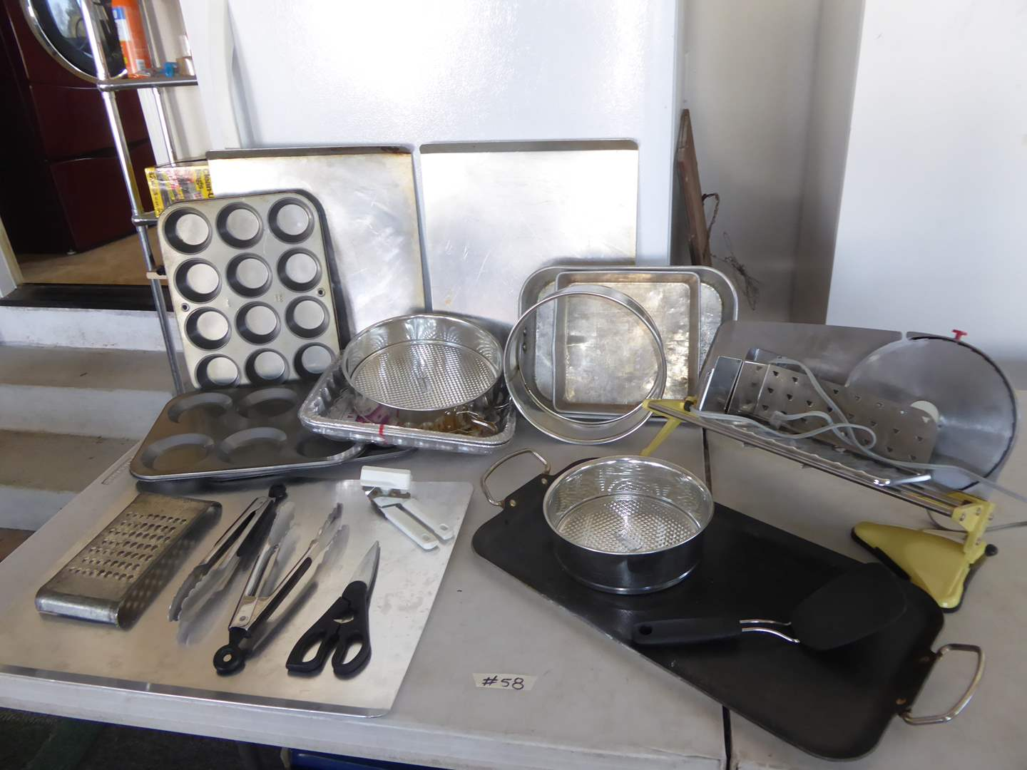 Lot # 58 - Meat Slicer, Baking Sheets, Muffin Pans & More   (main image)