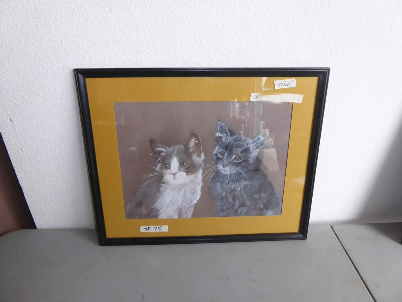 Lot # 75 - Charlene McCoy Framed Pastel Behind Glass  (main image)