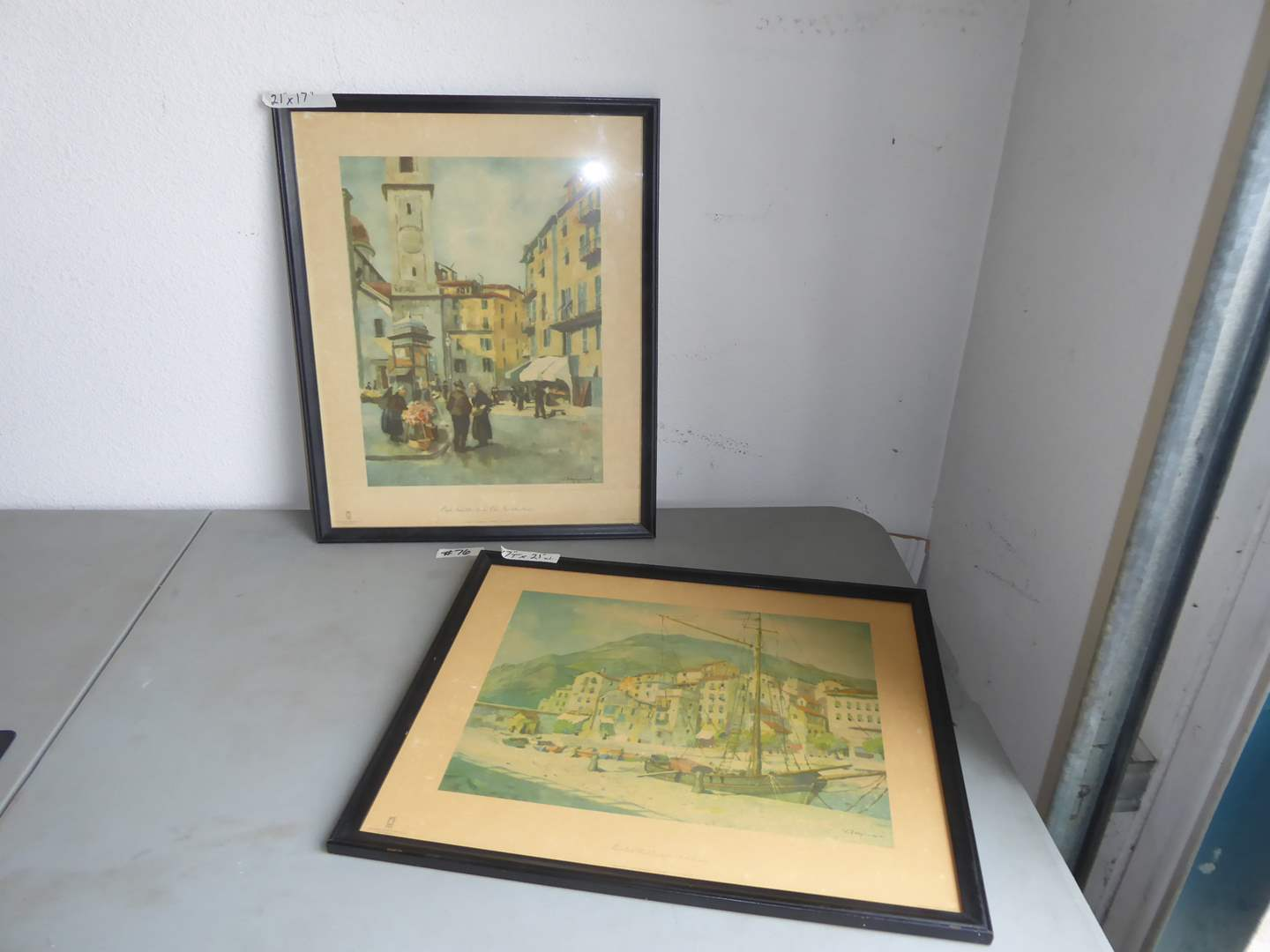 Lot # 76 - Two Framed Prints (Holland)  (main image)