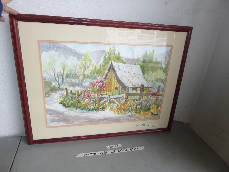 """Lot # 79 - Framed Original Watercolor """"Patrica Holub"""" (main image)"""