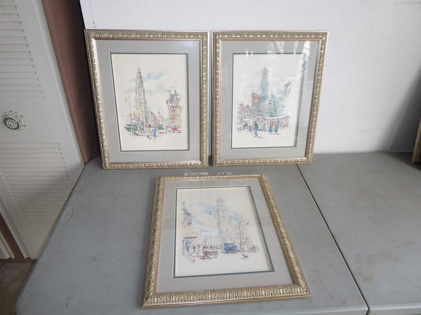 Lot # 81 - Three Framed Prints Behind Glass (main image)