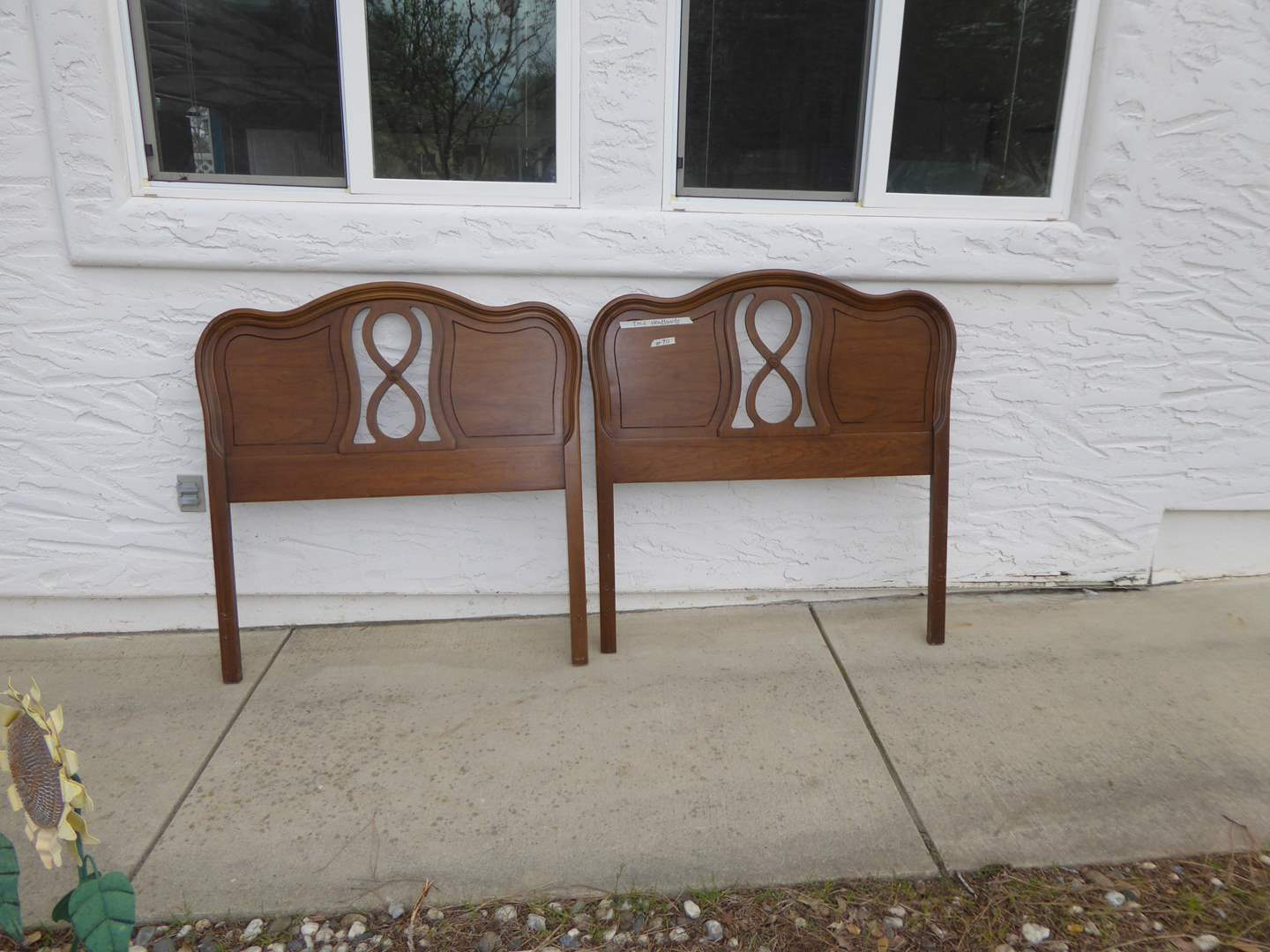 """Lot # 90 - Two Matching Vintage """"Dixie"""" Twin Headboards  (main image)"""
