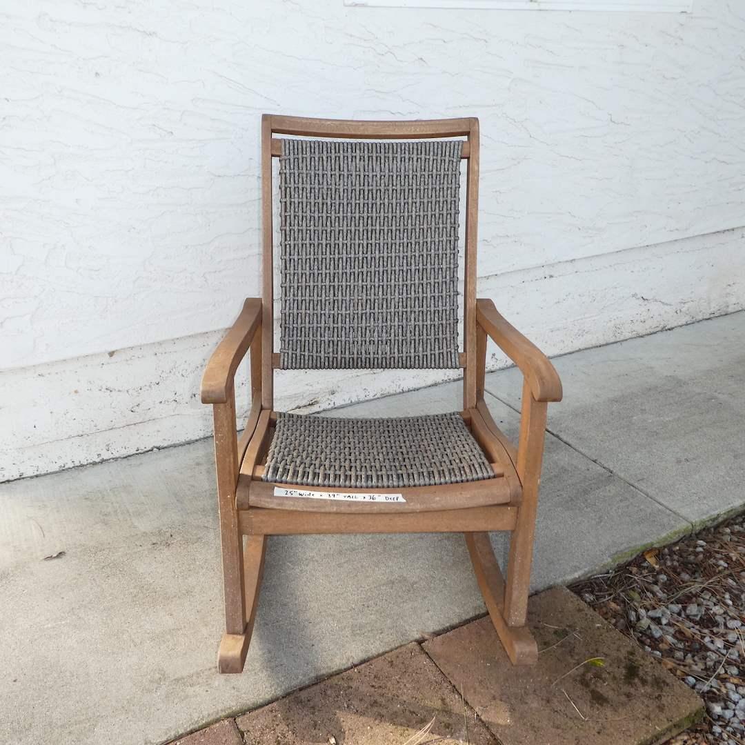 "Lot # 309 -  Large Beautiful ""Outdoor Interiors"" Rocking Chair  (main image)"