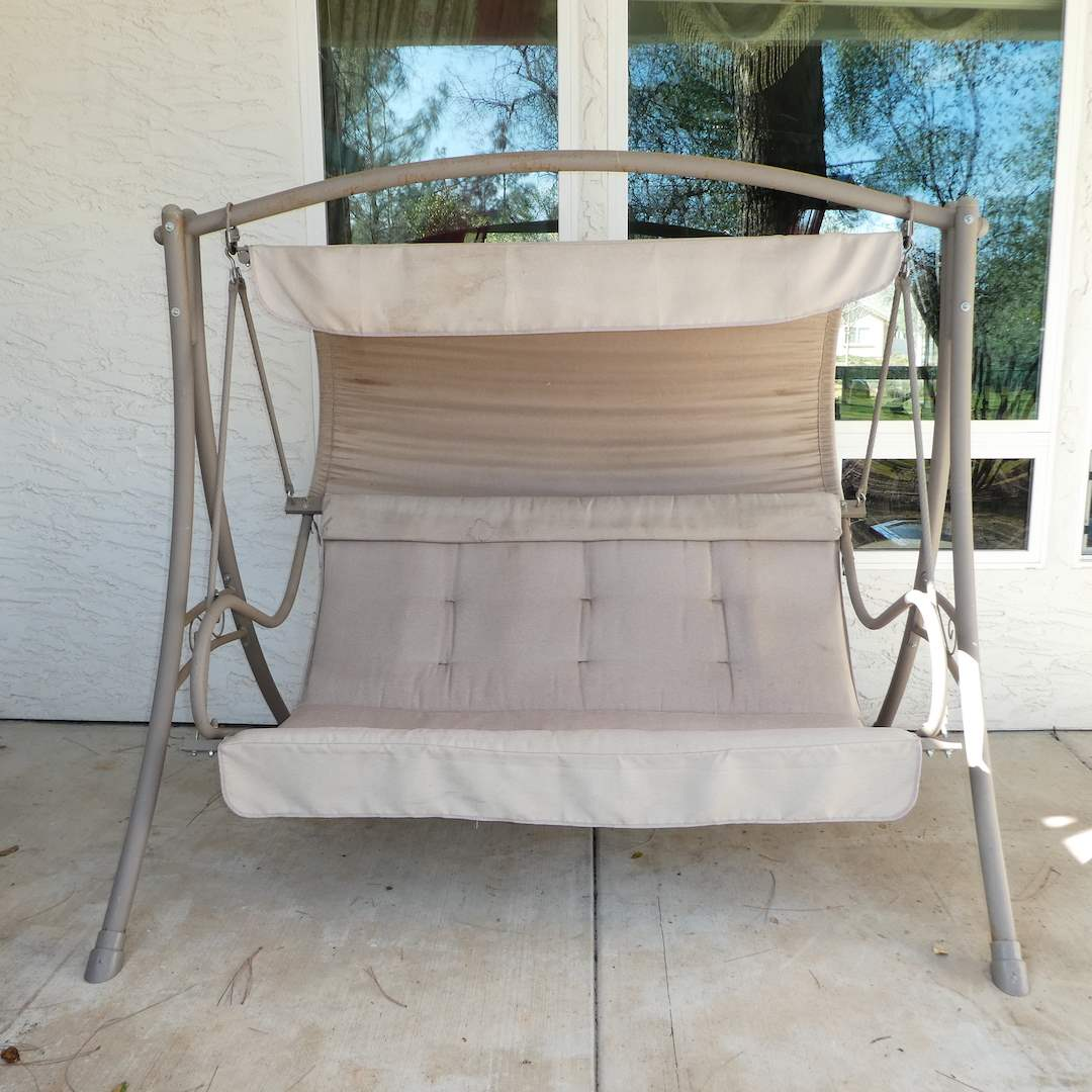 Lot # 317 - Large Outdoor Porch Swing with Canopy  (main image)