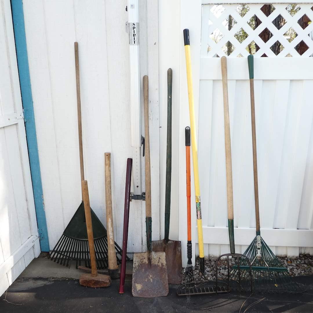 Lot # 326 - Yard Tools (Rakes, Shovels and More) (main image)