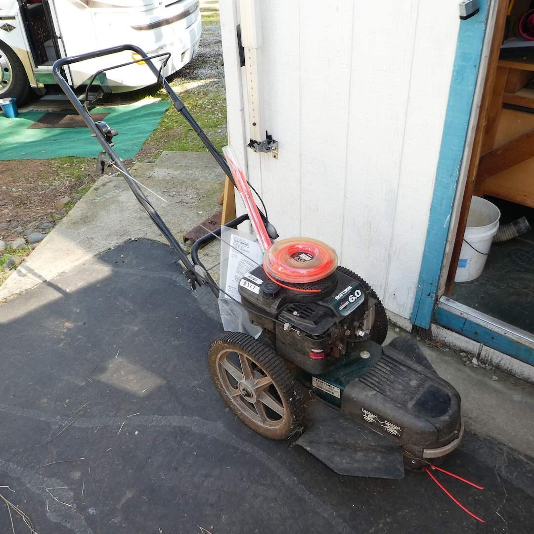 Lot # 327 - Craftsman Wheeled Weedtrimmer 6.0 Horse Pwr (Works) (main image)