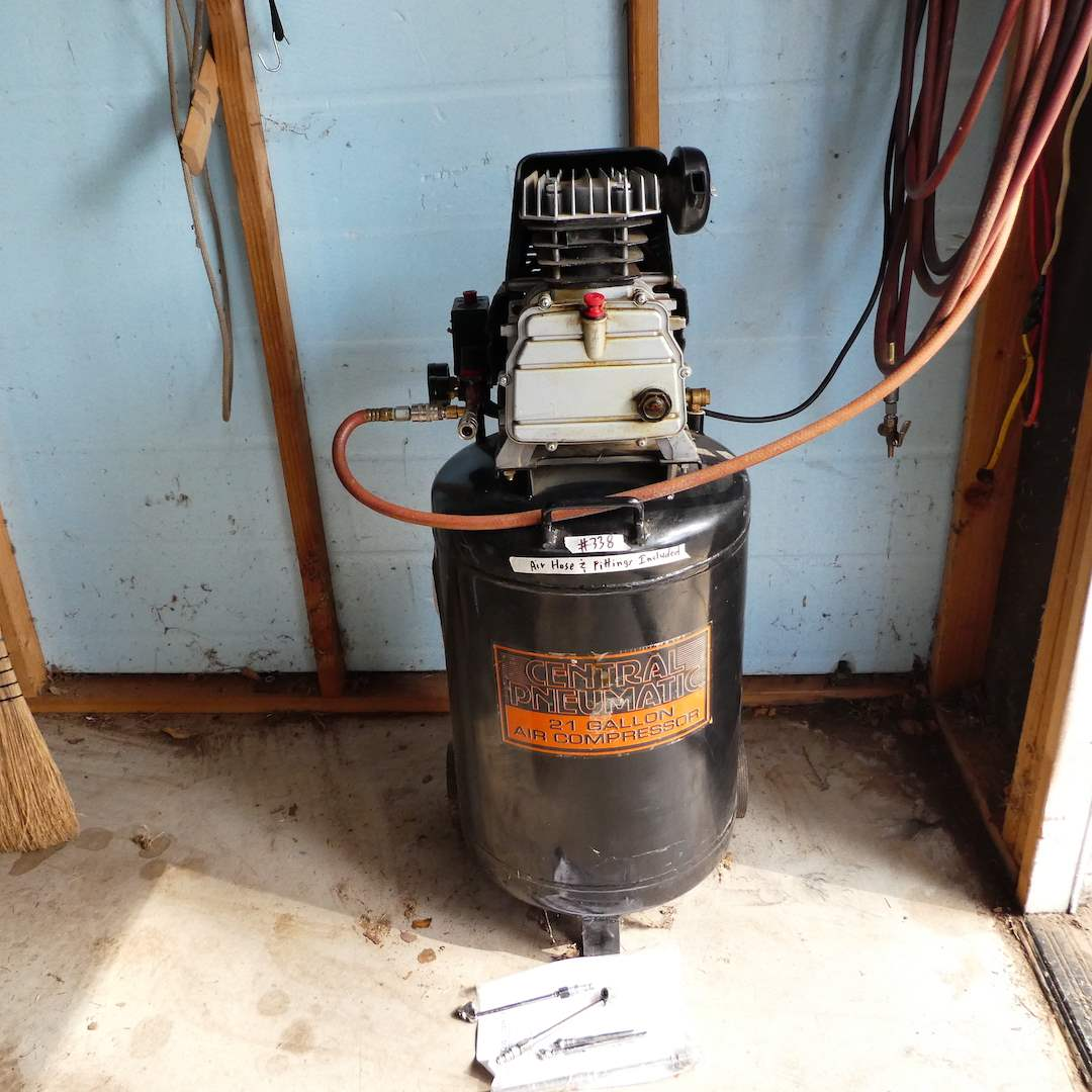 Lot # 338 - Central Pneumatic 21 Gallon Air Compressor (Works) (main image)