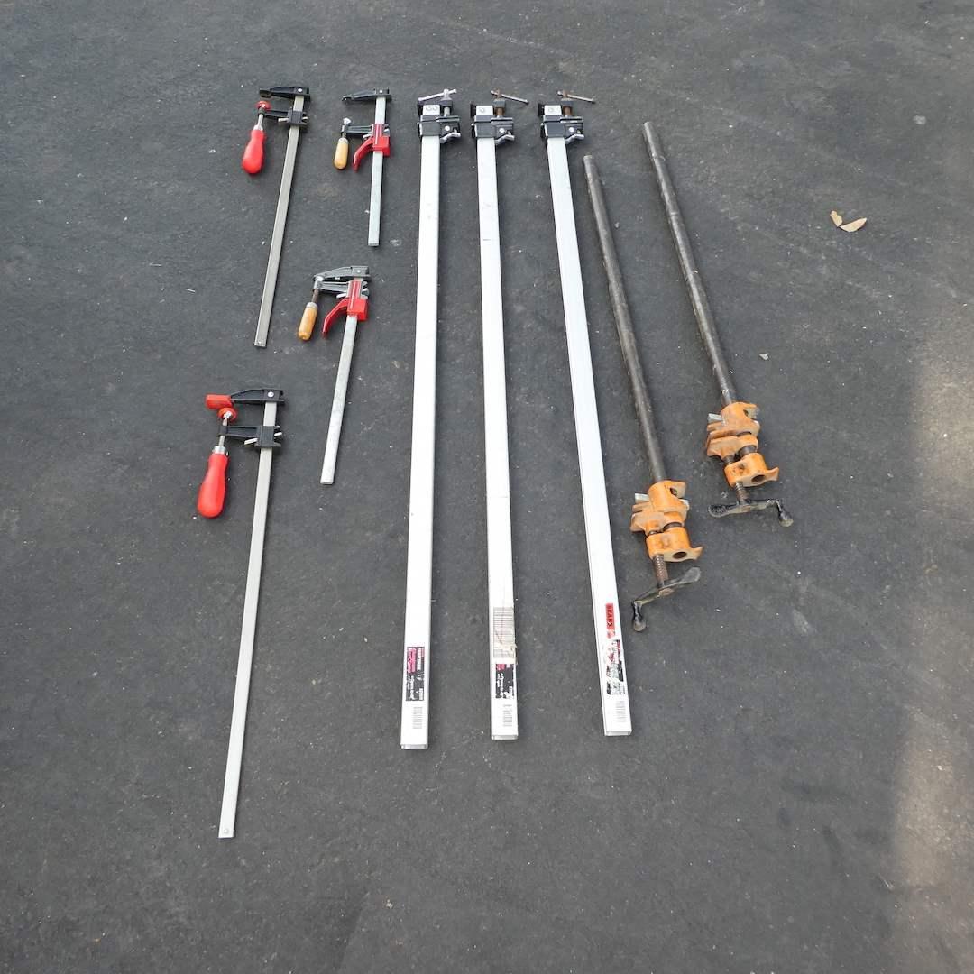 Lot # 363 - Variety of Bar Clamps (main image)