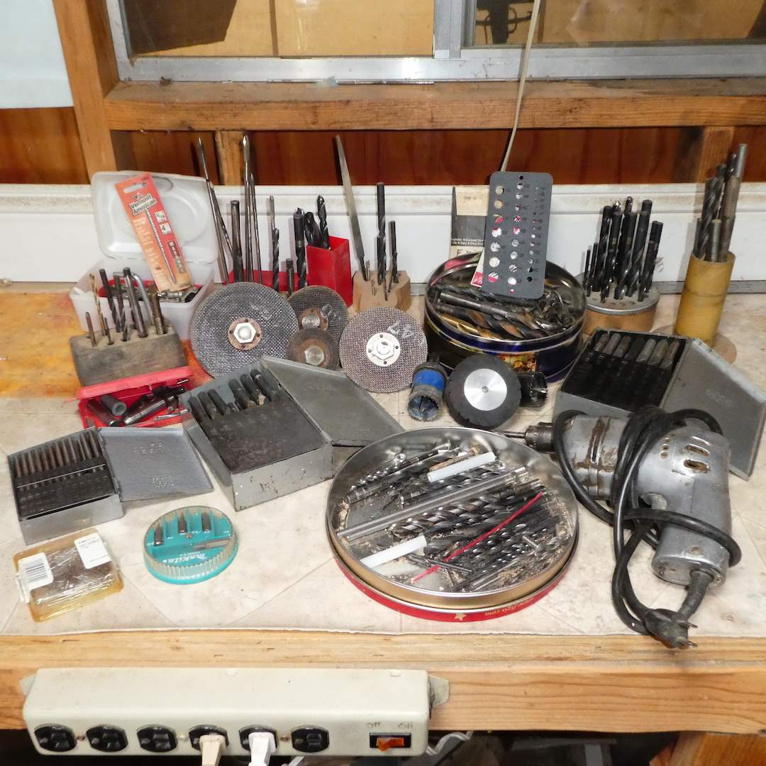 Lot # 375 -Black and Decker Drill with a Variety of Drill Bits (main image)