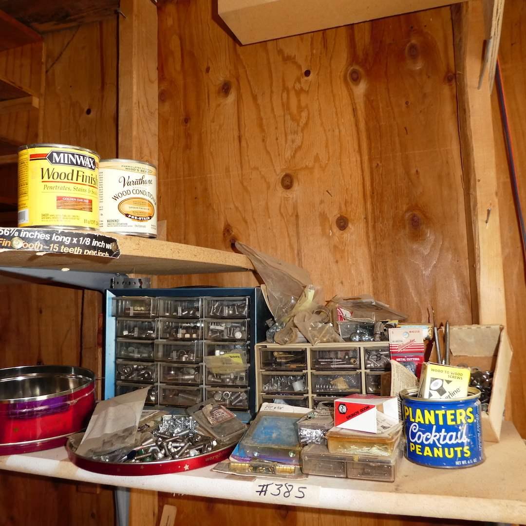 Lot # 385 - Misc Hardware Lot & Wood Finish (main image)