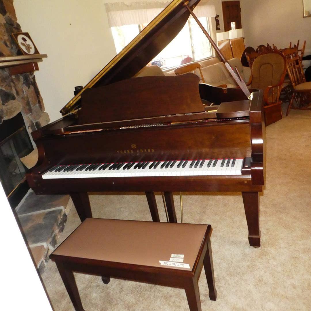 Lot # 121 - Beautiful Condition  - Young Chang G-150 Baby Grand Piano, Piano Bench & Music Books (main image)