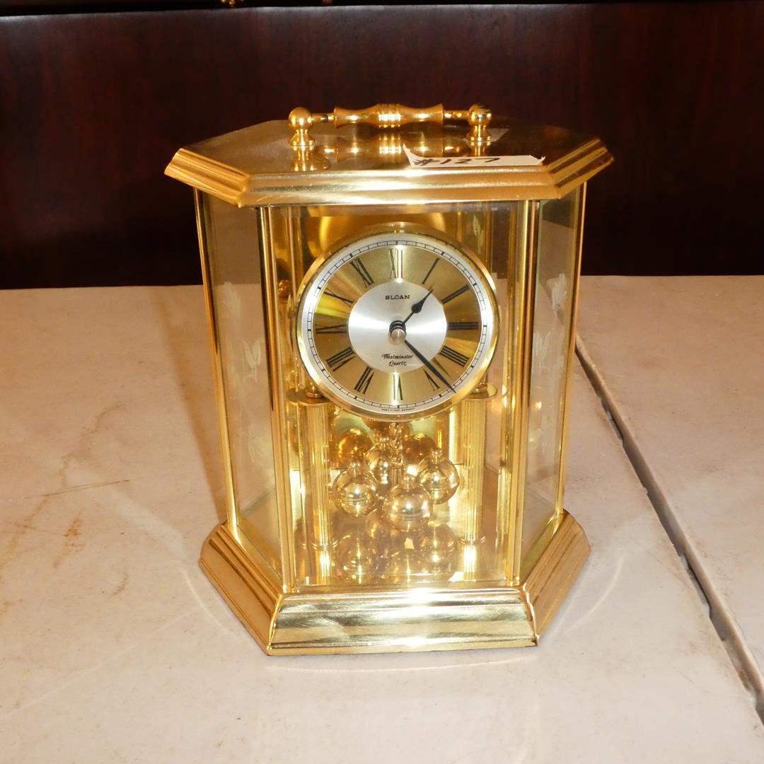 Lot # 127 - Vintage Sloan Westminster Quartz Mantel Clock (main image)