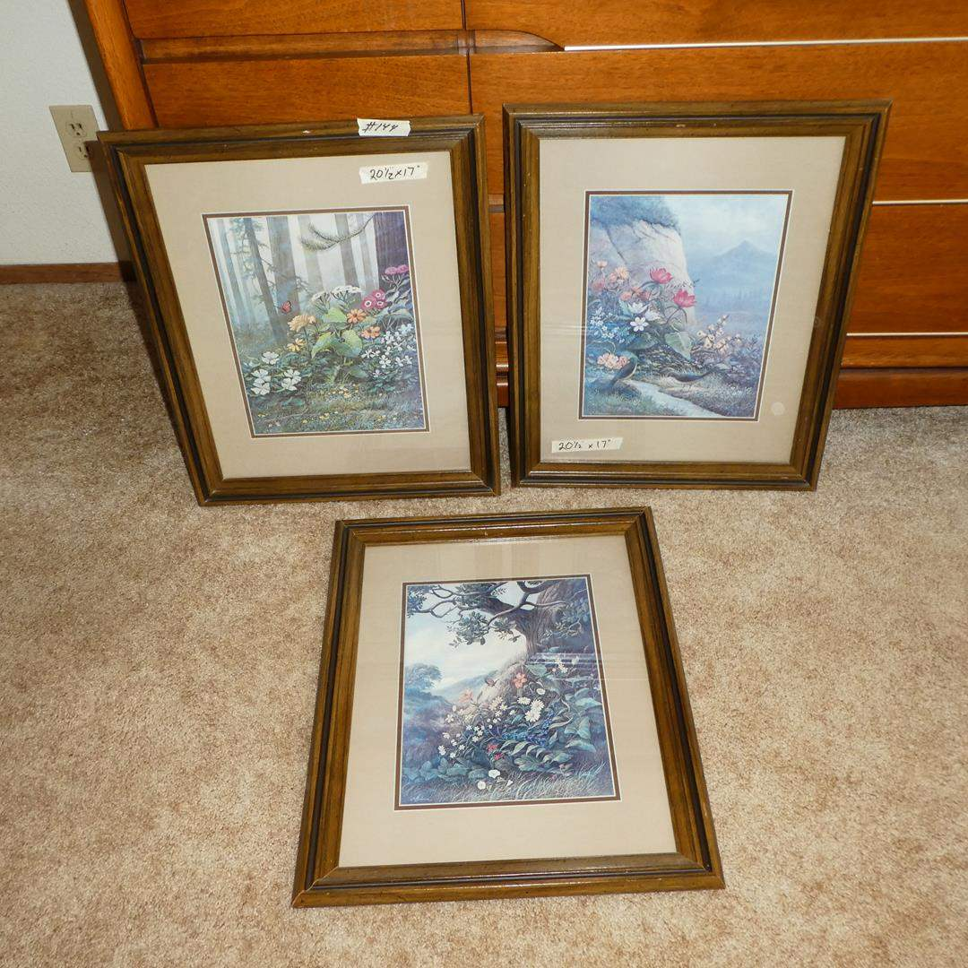 Lot # 144 - Three Framed Prints by Wm Blackman (main image)