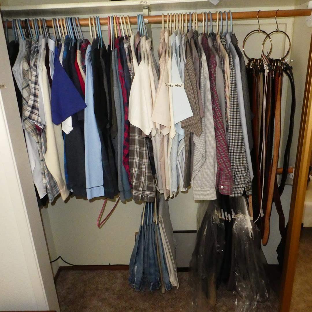 Lot # 148 - Men's Shirts, Slacks & Belts - See Pics for Sizes (main image)