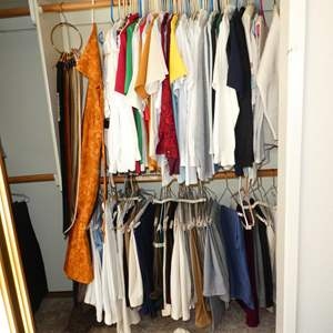 Auction Thumbnail for: Lot # 149 - Ladies Tops & Pants - See pics for sizes