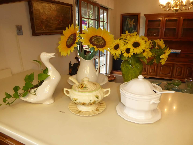 Lot # 35 - Ceramic Tureens, Wash Pitcher & Bowl & More  (main image)