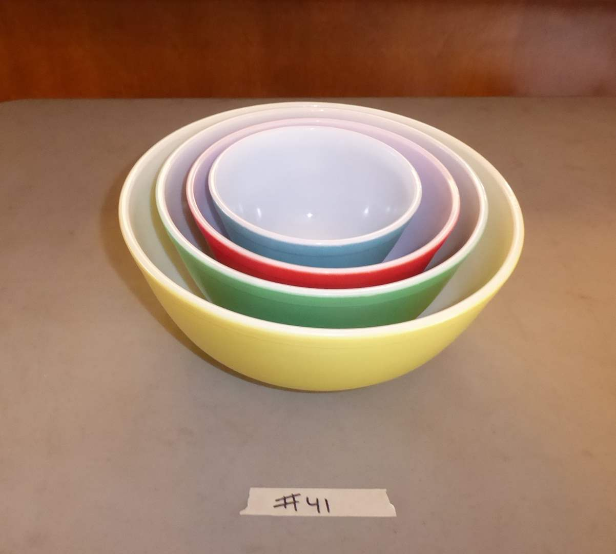 Lot # 41 - Four Vintage Pyrex Bowls  (main image)