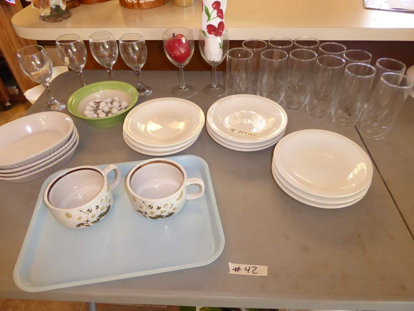 Lot # 42 - Culinary Arts Cafeware, Oven Safe Dishes & Glassware  (main image)