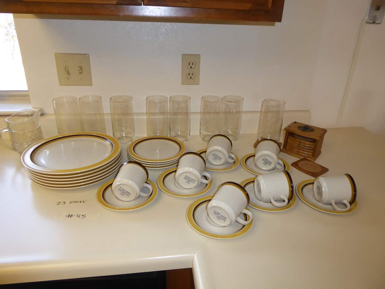 Lot # 45 - Dynastone Marbella Oven to table Dishes & Tea Glasses  (main image)