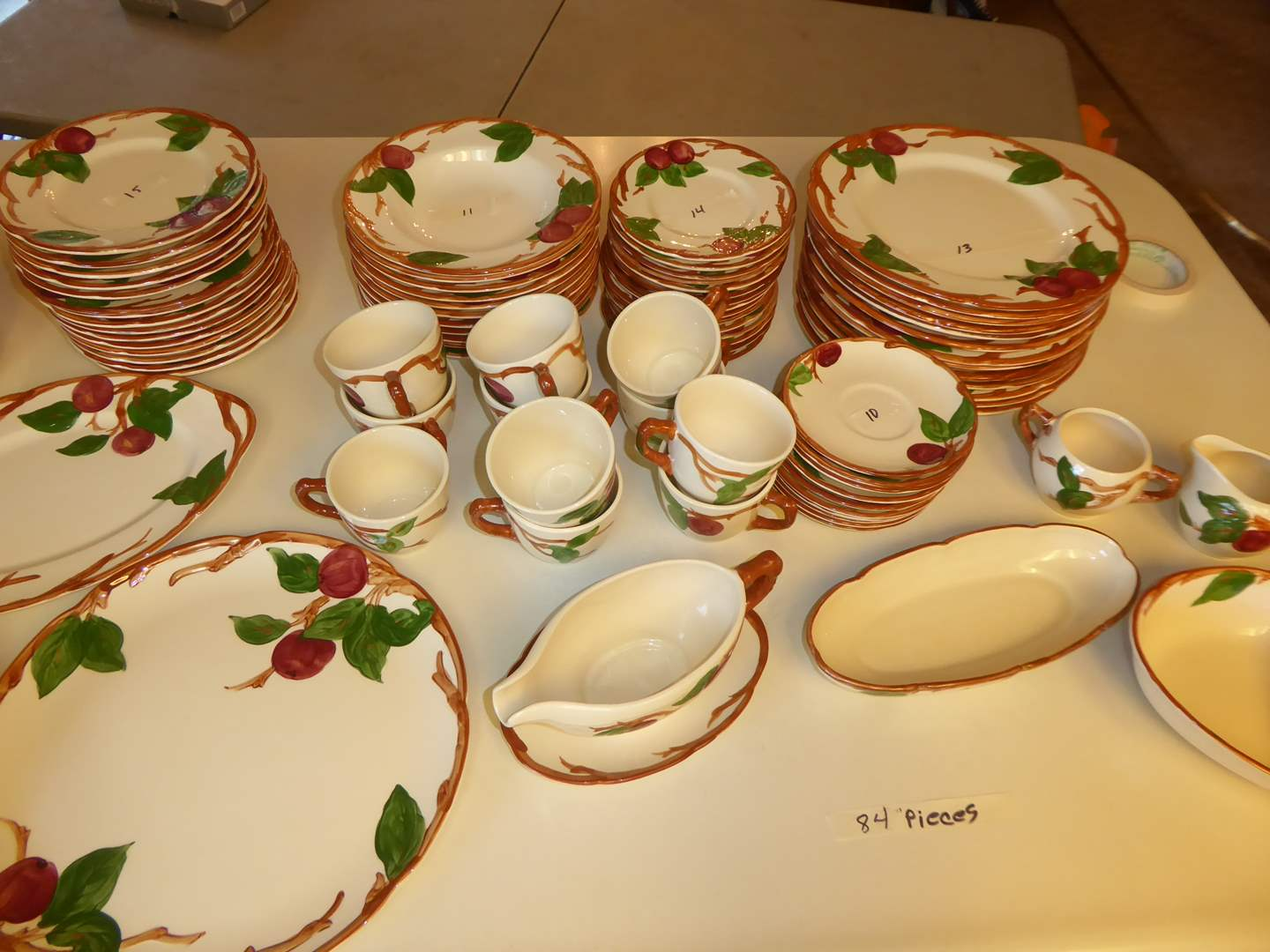 """Lot # 49 - Franciscan Ware """"Apple"""" 84 Pieces  (main image)"""