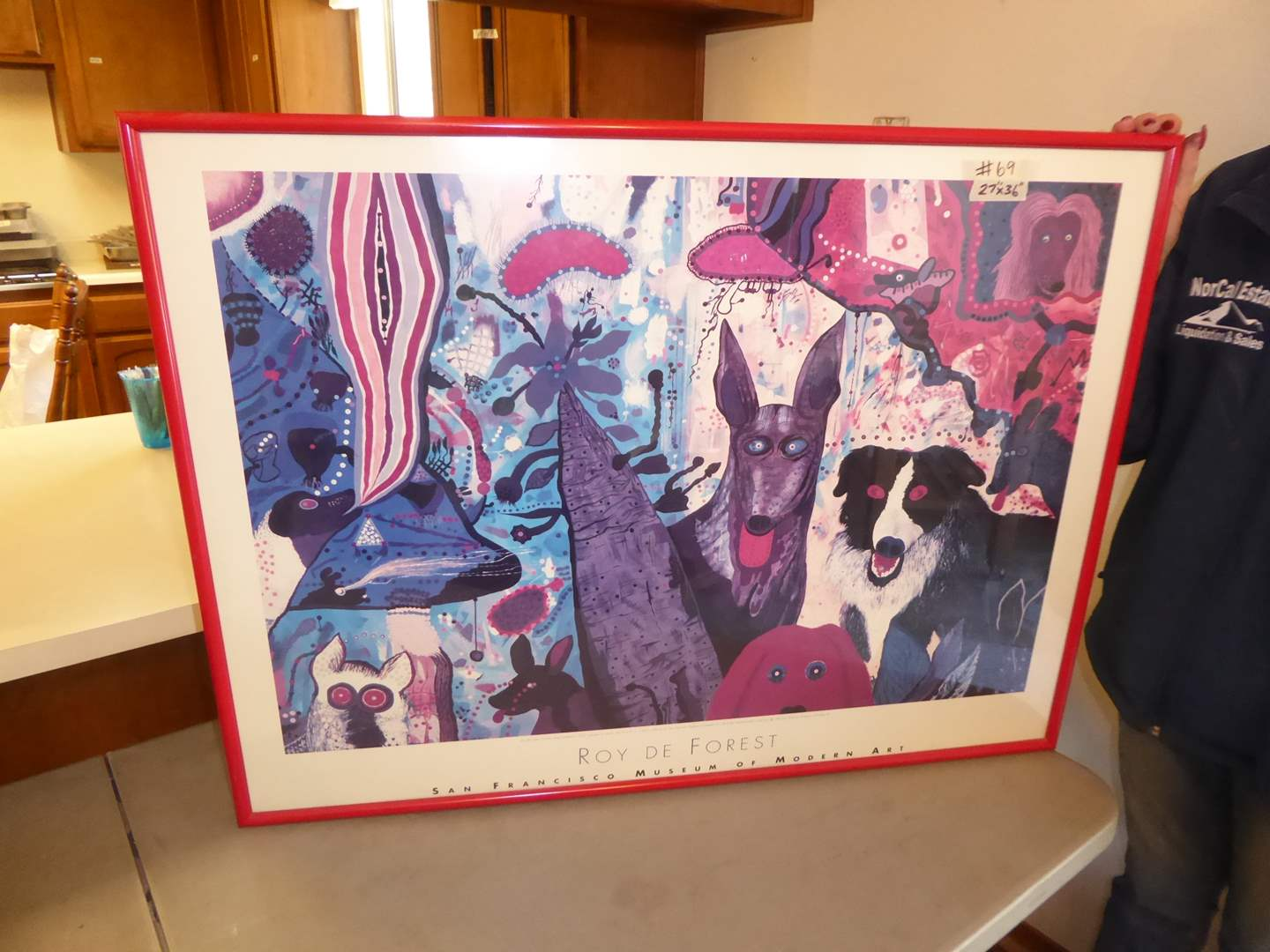 "Lot # 69 - Roy De Forest Framed ""County Dog Gentleman"" Framed Print  (main image)"