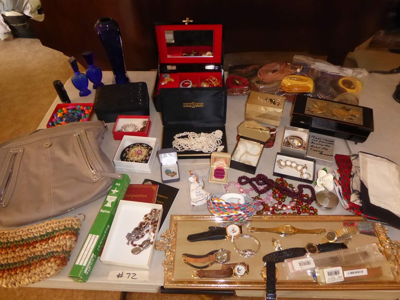 Lot # 72 - Jewelry, Watches, Jewelry Boxes & Belts  (main image)