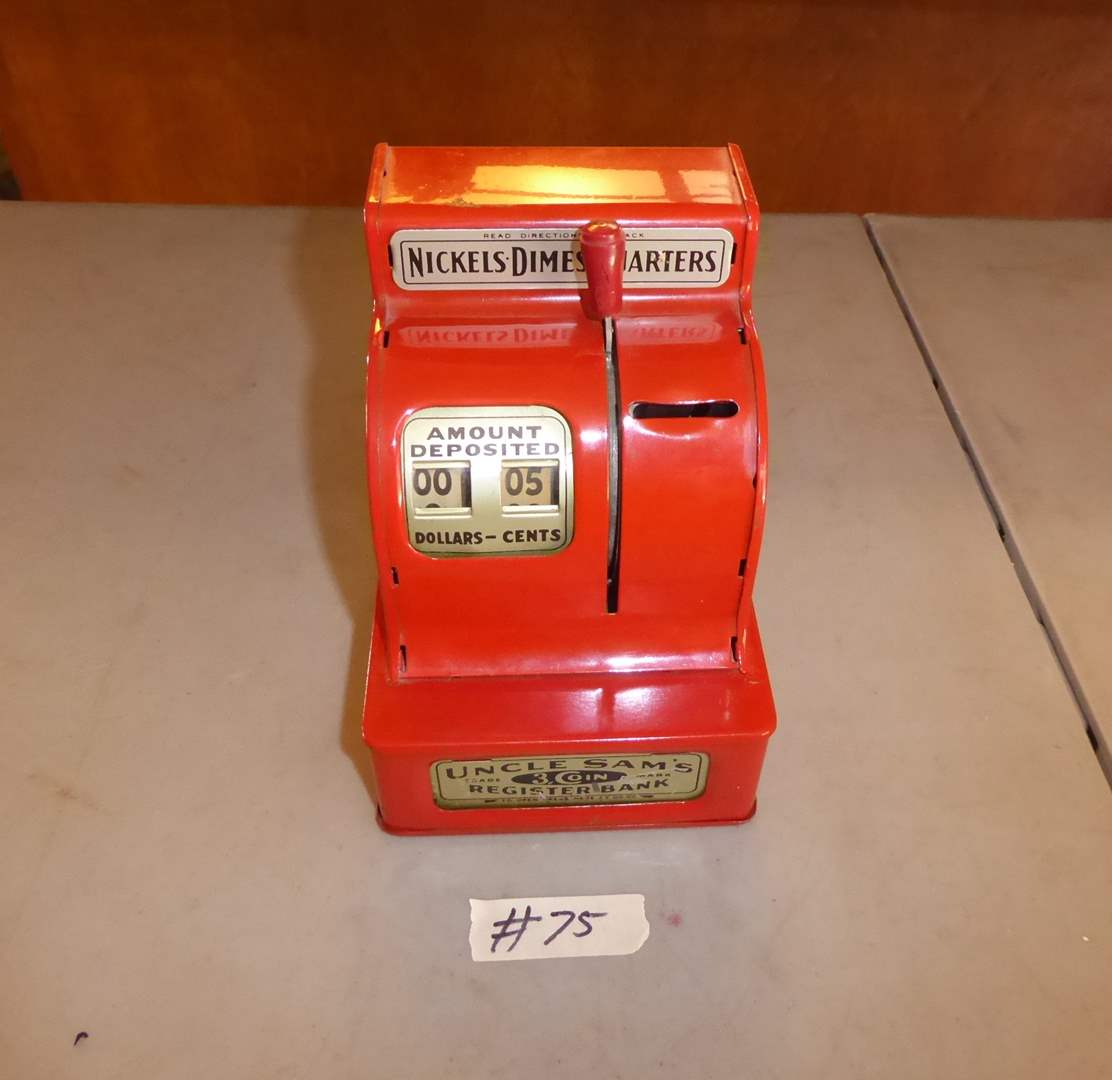"""Lot # 75 - Vintage """"Uncle Sam's"""" Register Coin Bank Durable Toy & Novelty Collection  (main image)"""