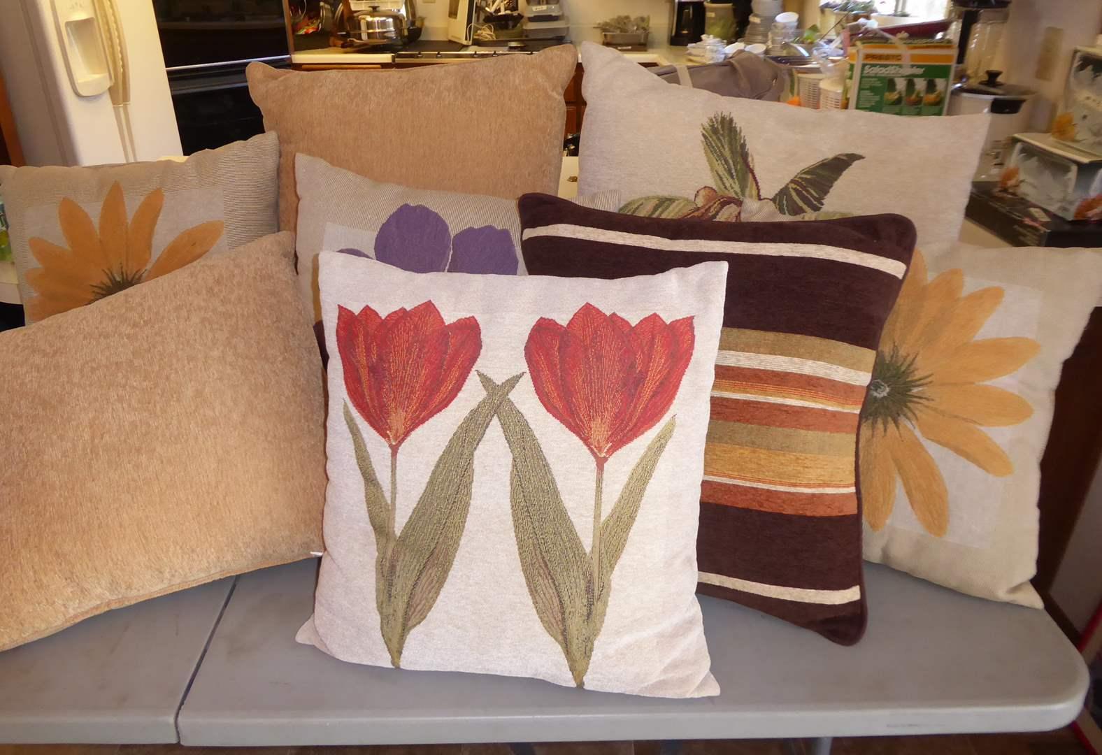 Lot # 77 - Eight Throw Pillows  (main image)