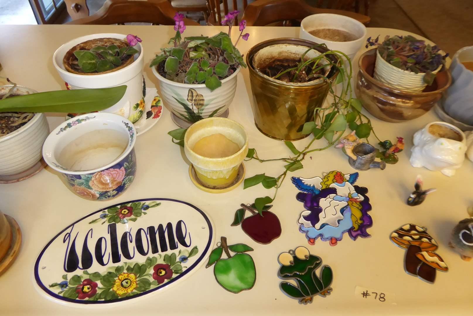 Lot # 78 - African Violets, Orchid & Planter Pots  (main image)