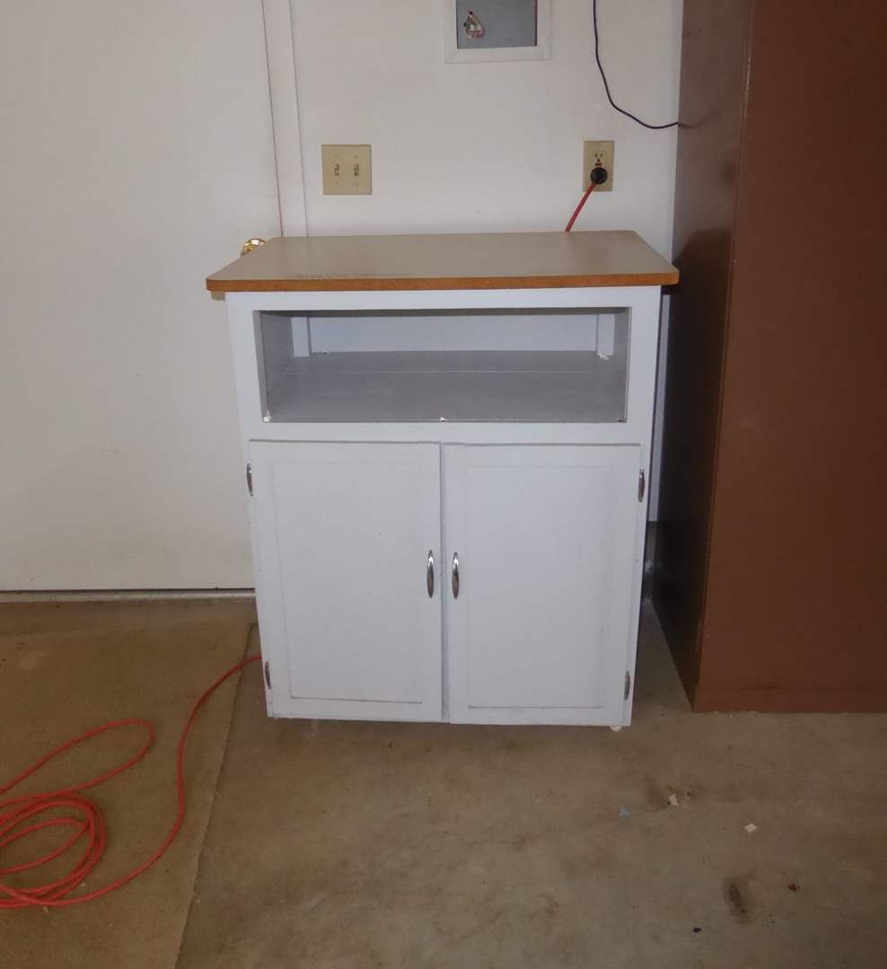 Lot # 354 - Cabinet On Wheels  (main image)