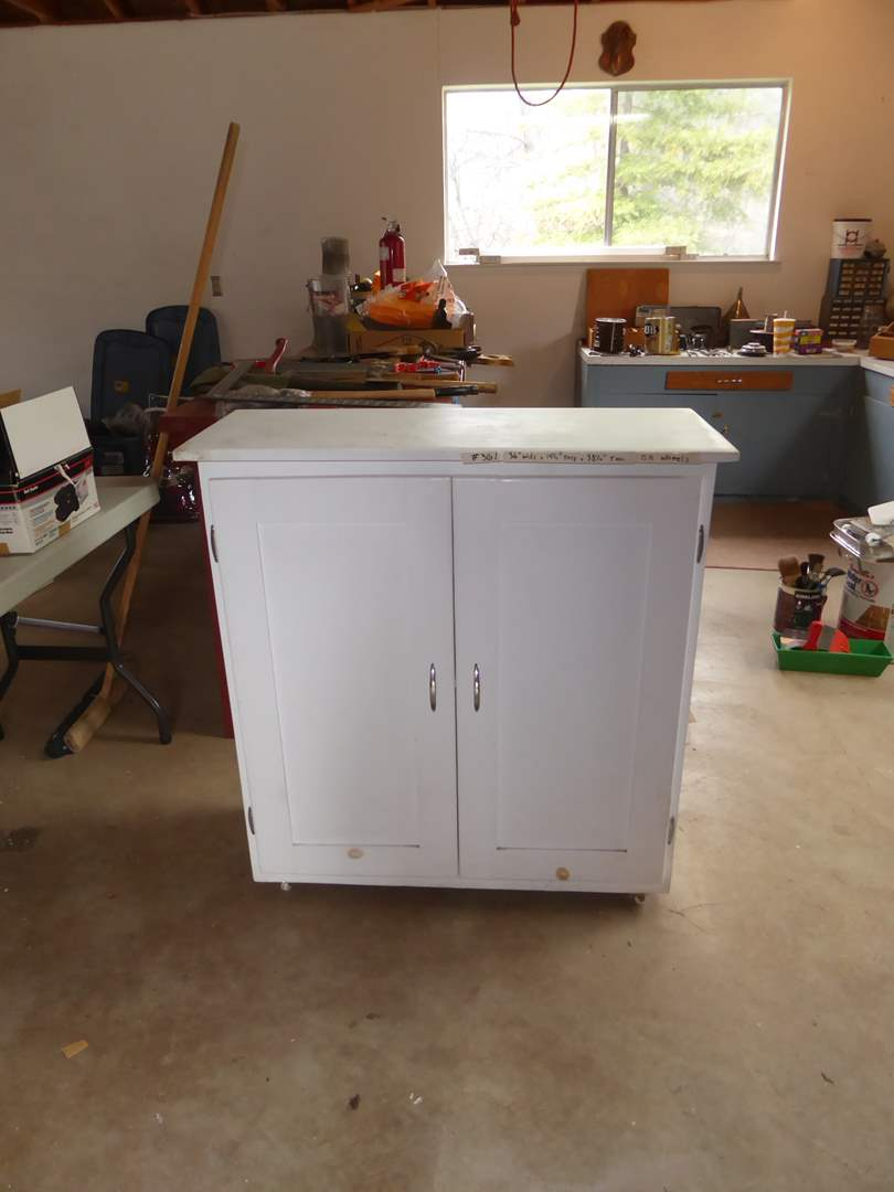 Lot # 361 - Wooden Cabinet (On Wheels) (main image)