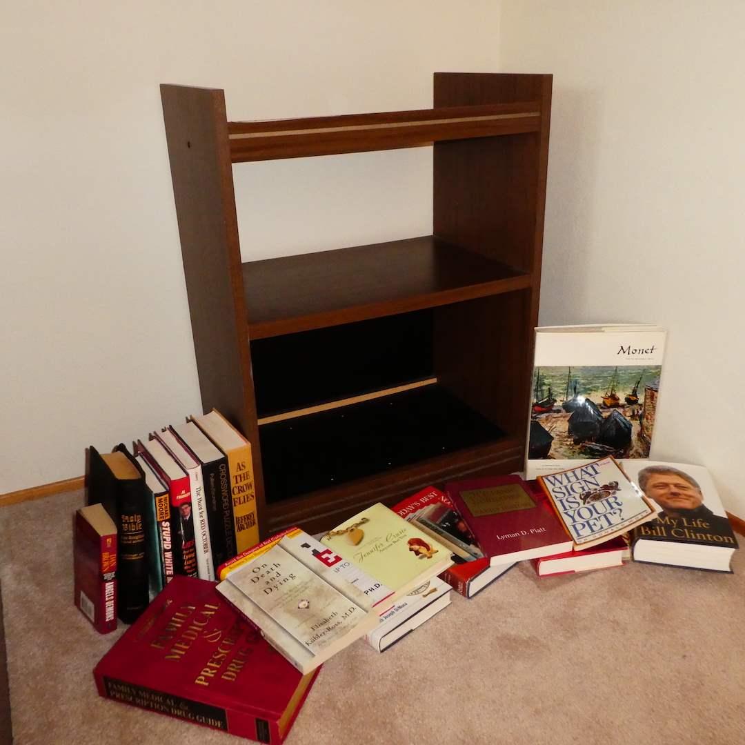 Lot # 202 -Cute Small Book Shelf and Books  (main image)