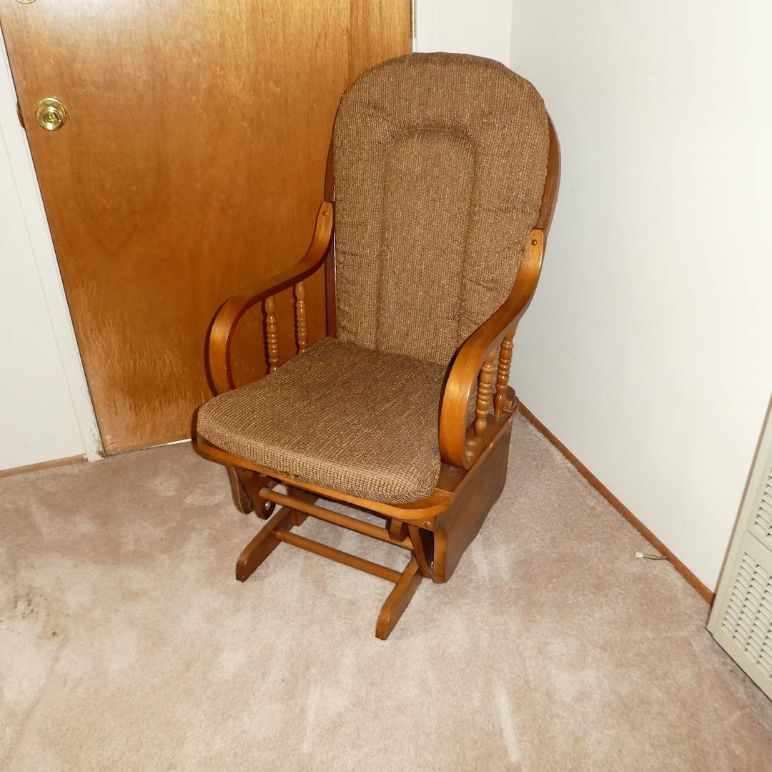 Lot # 205 - L Powell Co. Cushioned Glider  (main image)