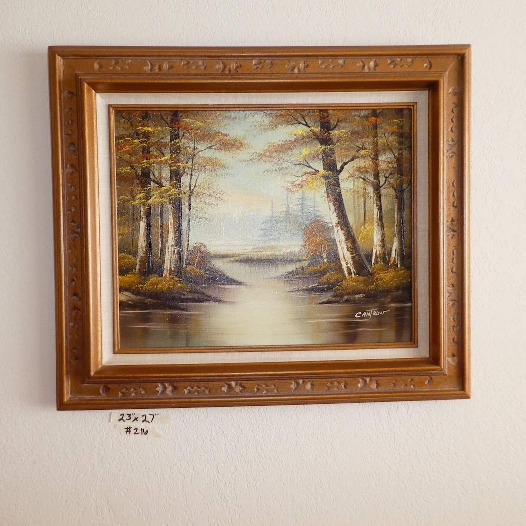 """Lot # 216 - Framed Original Oil on Canvas """"Cantrow""""  (main image)"""