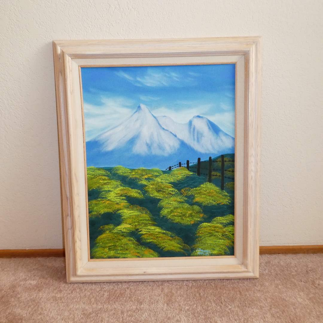 "Lot # 219 - Beautiful Mountain Range Original Oil on Canvas Signed ""Stiminez Sept-89) (main image)"