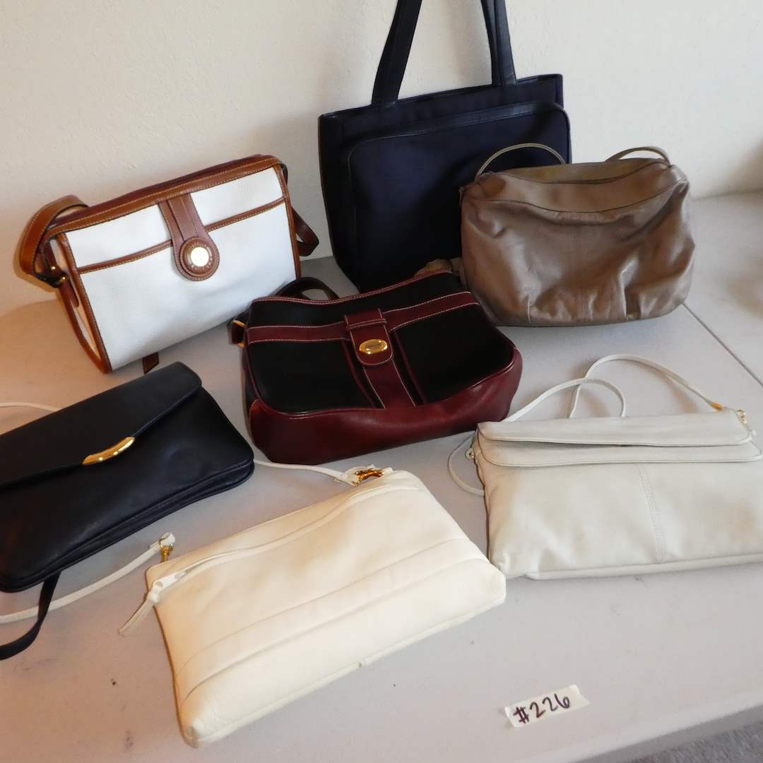 Lot # 226 - Lot of Quality Name Brand Purses (See all Photos)  (main image)