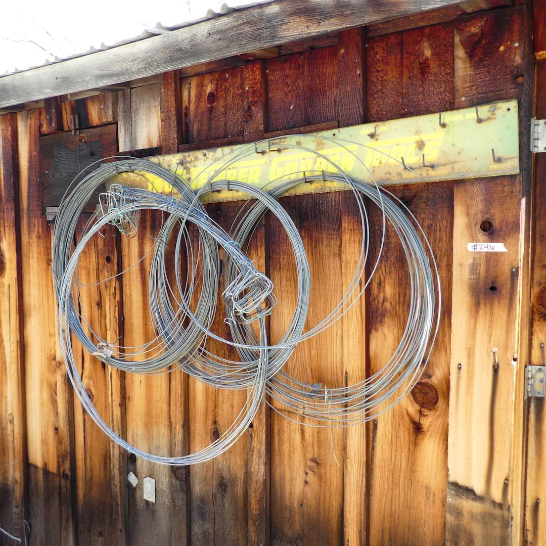 Lot # 246 - Vintage Metal True Temper Tools Sign/ Rack and Some Wire (main image)