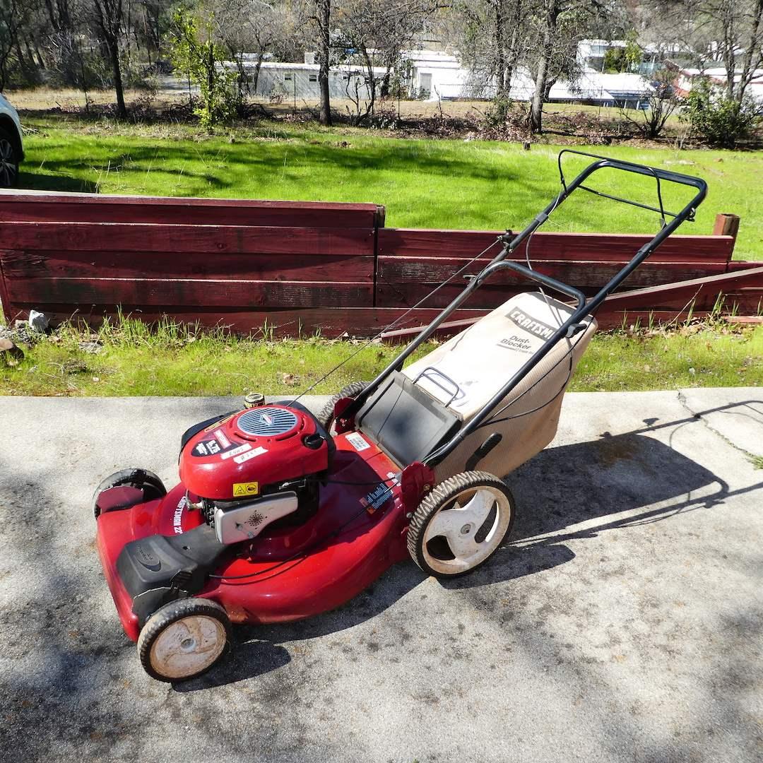 "Lot # 251 - Craftsman Rotary Lawn Mower 6.75 HSP 22"" Rear Discharge (Runs) (main image)"