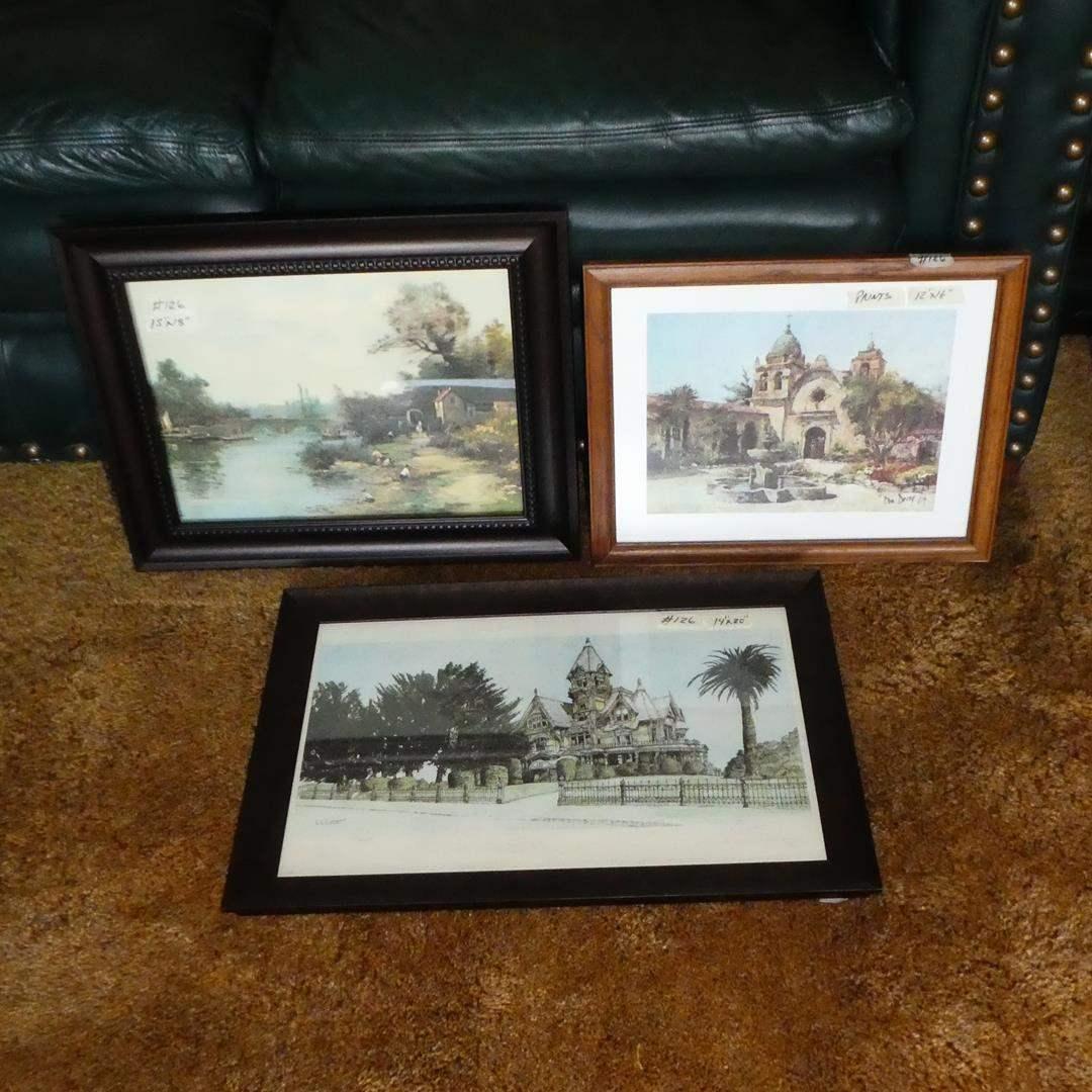 Lot # 126 - Three Framed Vintage Prints (main image)