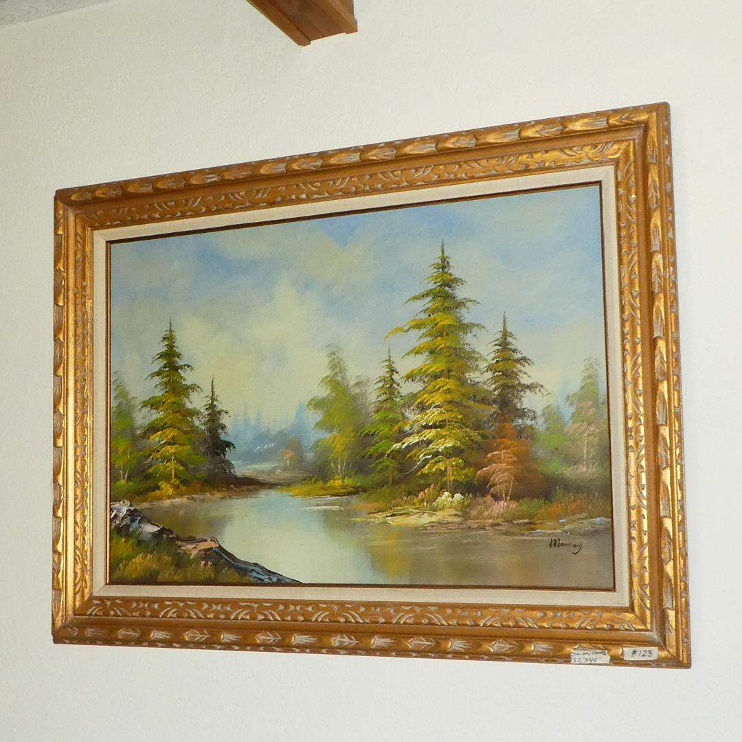 Lot # 128 - Large Framed Appraised Oil on Canvas by Markey (main image)