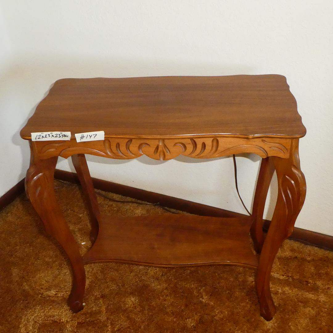 Lot # 147 - Vintage Wooden Accent End Table (main image)