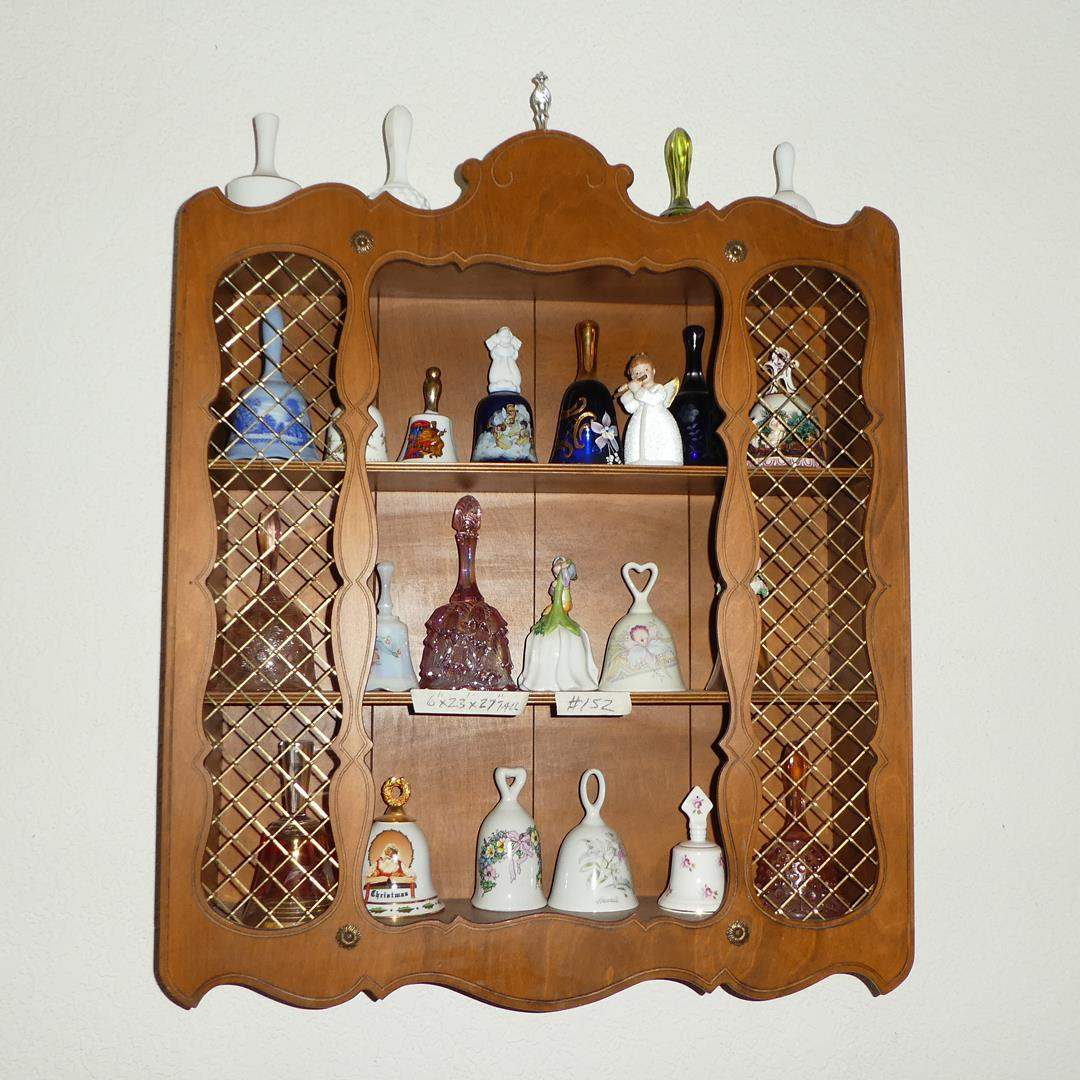 Lot # 152 - Miniature Wall Shelf & Collectible Bells (main image)