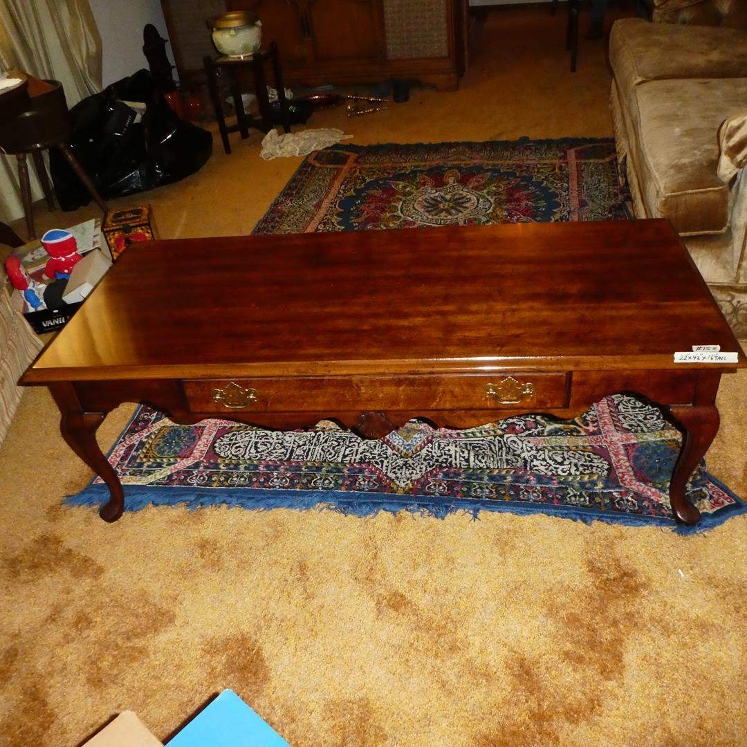 Lot # 155 - 'American of Martinsville' Wooden Coffee Table w/Drawer (main image)