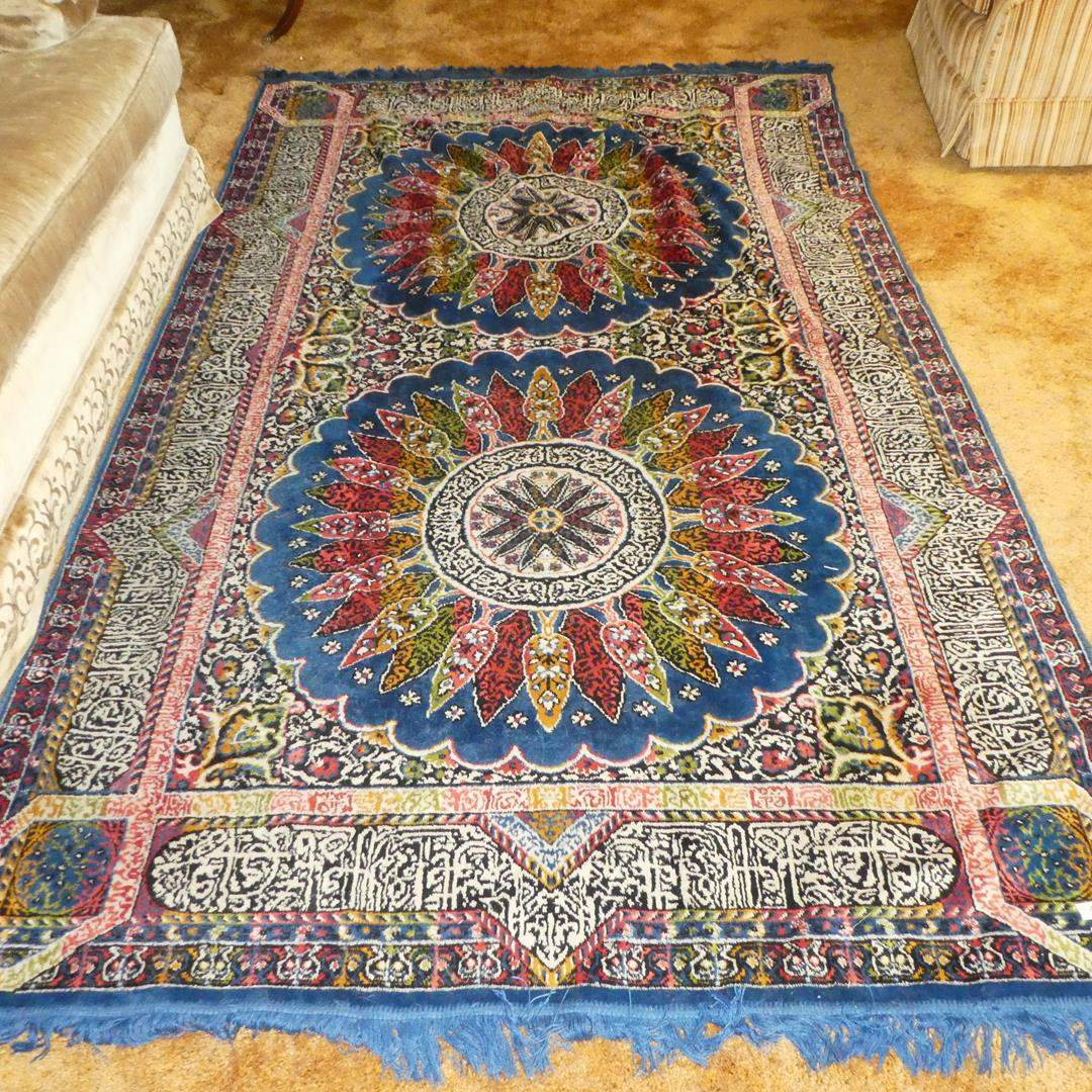 Lot # 160 - Colorful Vintage Area Rug - Very Soft (main image)