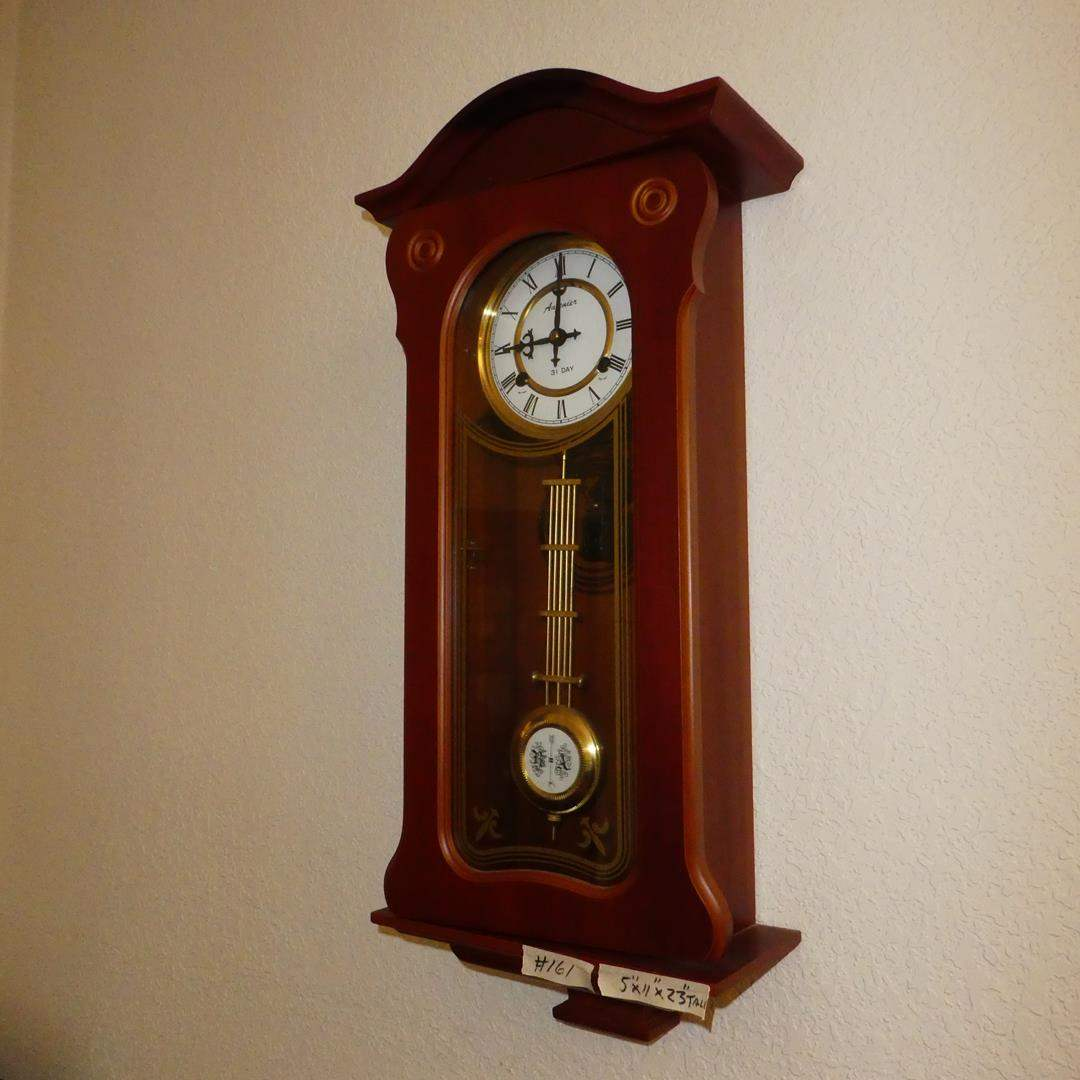 Lot # 161 - Vintage 31 Day Auzenier Benz Wall Clock w/Key (main image)